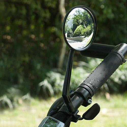 2Pcs Cycling Bike Bicycle Handlebar Flexible Safe Wide Rear View Rearview Mirror