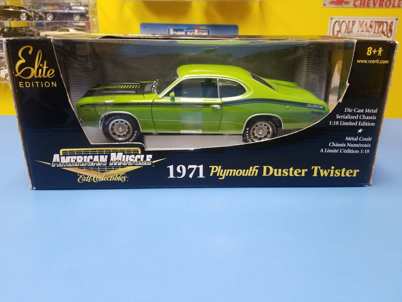"American Muscle 1971 Plymouth Duster Twister "" Grün "" Elite Version Neu"