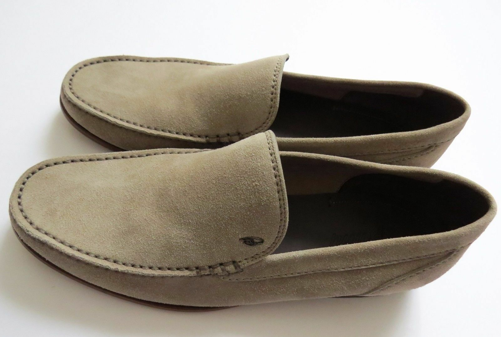 1100 BRIONI Sable Beige Daim Chaussures Mocassins Taille 10.5 US 43.5 Euro 9.5 UK