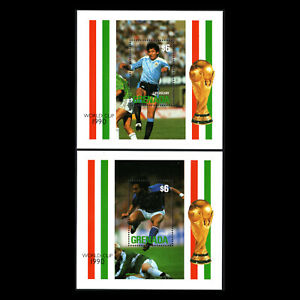 Grenada-1990-Football-World-Cup-Italy-Sports-Soccer-Sc-1901-2-MNH
