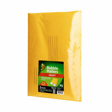 New Duck Brand 5 Kraft Manilla Bubble Mailer 2 Pack 105 X 15 Inches