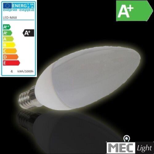 3000k E14 CANDELA LED//Lampada CANDELE 330lm-bianco caldo 4w
