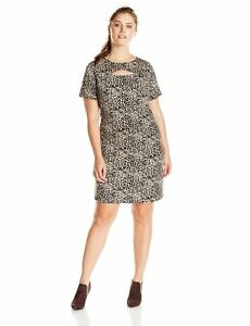33c15e0924daa Vince Camuto Women s Plus-Size Short Sleeveless Tribal Leopard Dress ...