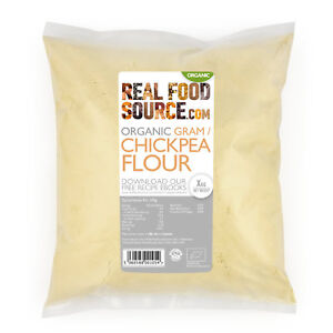 Details about RealFoodSource - Organic Chickpea (Gram) Flour 1kg