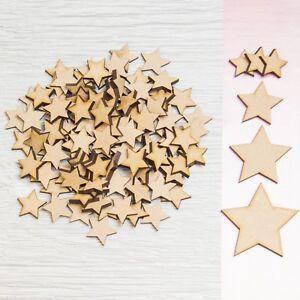 Details About 50x Wooden Stars Shapes Laser Cut Mdf Blank Embellishments Art Craft Decor 20mm