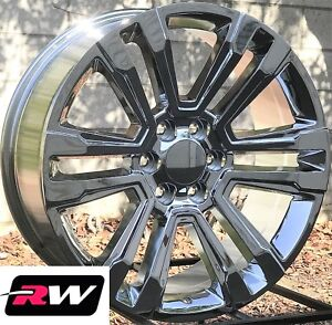 "20 x9"" inch GMC Yukon Factory Style Denali Wheels 2017 2018 Chrome Rims 6x139.7"