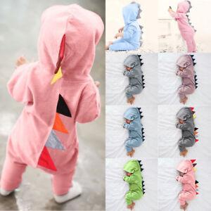 2a1774bc4 Newborn Infant Baby Boy Girl Kids Dinosaur Hooded Romper Jumpsuit ...