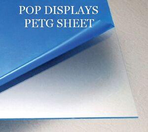 "PETG CLEAR PLASTIC SHEET 0.060/"" X 24/"" X 24/"" VACUUM FORMING RC BODY HOBBY"