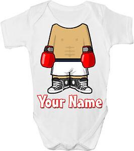 Prudent L'organisme De Boxe Boxeur Personnalisée Bébé Gilet / Gro / Body - * Grand Cadeau & Nommé *-afficher Le Titre D'origine
