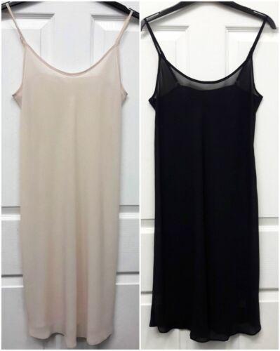 LADIES QUALITY SHEER CHIFFON CAMI//NIGHT DRESS SLIP UK SIZES 8-20