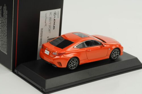 Lexus RC 350 F Sport Lava Orange MC 1:43 Kyosho diecast