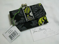 Vera Bradley Baroque Small Kisslock Clutch Wallet Coin 4 Purse Tote Backpack