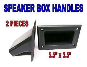 2-Pieces-5-5-034-x-3-5-034-DJ-Speaker-Box-Black-Plastic-Pocket-Handles-Enclosure