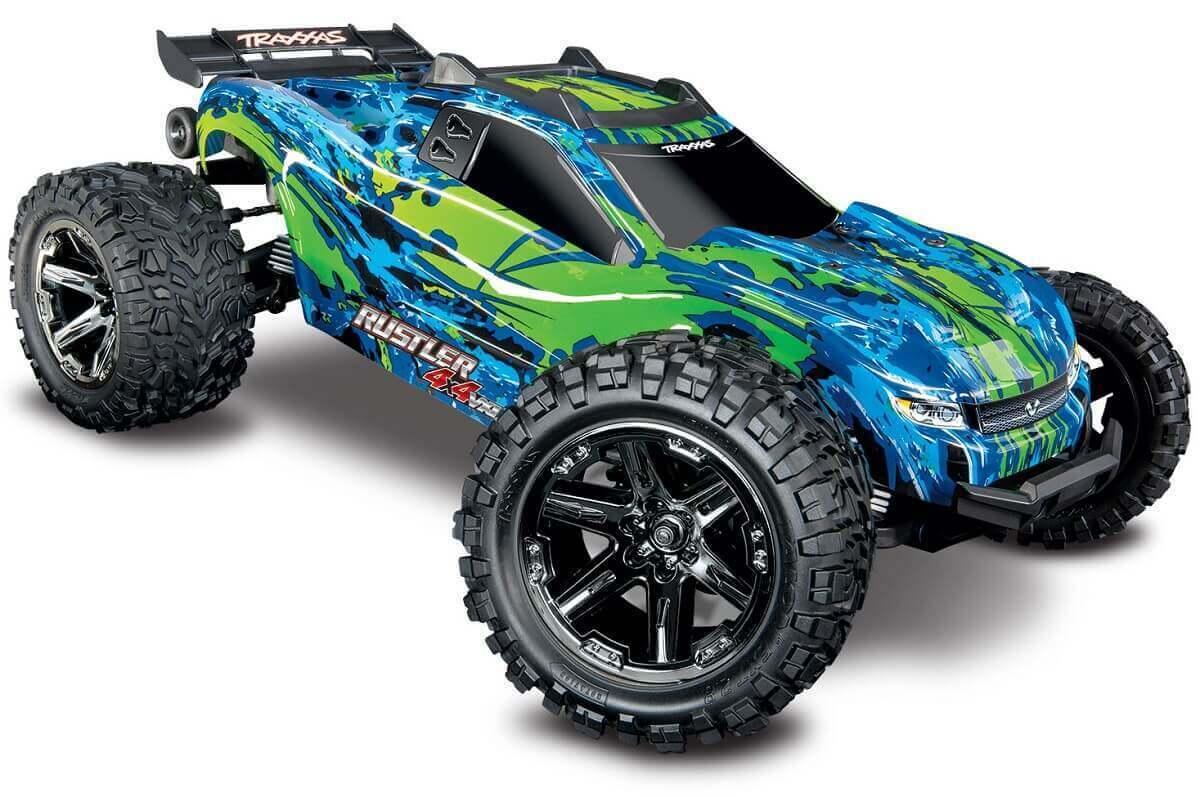 Traxxas Rustler 4x4 Vxl verde 1 10 senza Spazzole Camion 67076-4