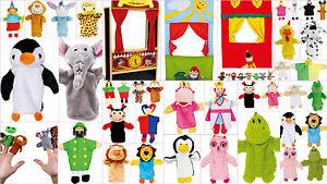 Puppets Kids Animals Glove Hand Puppet Show Finger Puppet Theatre Children Play