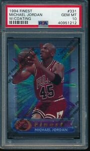 PSA 10 MICHAEL JORDAN 1994-95 Topps Finest w/Coating Bulls Jersey #45 GEM MINT