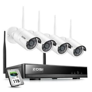 Protect your Property !!ZOSI 2-8CH Wireless 1080p CCTV System H.265+ 1080P Camera IP Security SystemFree Fast Shipping Canada Preview