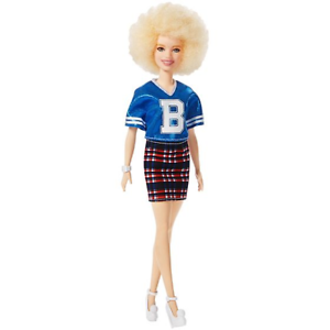 Barbie Fashionistas Doll Varsity Albino #91 Rare New