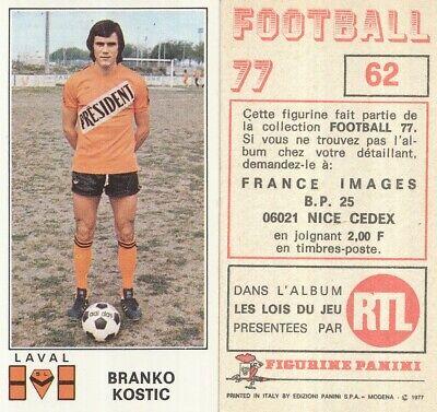 064 PATRICK PAPIN # LAVAL STADE LAVALOIS STICKER PANINI FOOTBALL 77