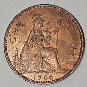 1 One Penny Great Britain King Georges V Vi Elizabeth Ii Km# 788 (rkm1) Et D'Avoir Une Longue Vie.