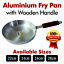 High-Quality-Heavy-Gauge-Aluminium-Frying-Cooking-Pan-With-Wooden-Handle-22-30CM thumbnail 1