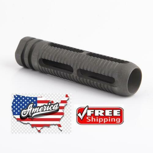 Steel Muzzle Brake 7.62x39 Cal Reduces Recoil 1x14 LH Thread-AKL