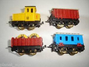 Fret-Modele-Train-Wagons-Set-1995-1-160-N-Kinder-Surprise-Plastique-miniatures
