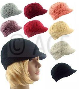 Ladies-Womens-Rabbit-Fur-Knitted-Knit-Pattern-Beret-Soft-Newsboy-Baker-Boy-Hat