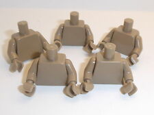Lego Dark Tan Torso's x 5 with Dark Tan Hands for Miinifigure