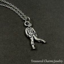 Silver Zombie Charm Necklace - Halloween Horror Pendant Jewelry NEW