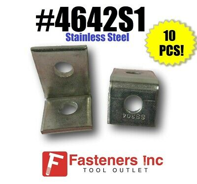 2 Hole STAINLESS STEEL 90 Degree Corner Angle Unistrut Channel 10//BOX P1068SS