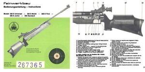 Details about Feinwerkbau Modell 300 S etc Air Rifle Manual