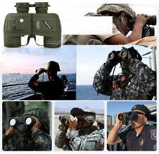 10x50 Binoculars Marine Navy with Rangefinder Compass Reticle Telescope Hunting