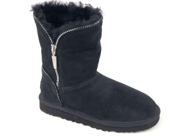 74cde4f47c1 Ugg Australia Kid's FLORENCE Black 1016992K Classic Short Zipper Youth Boots