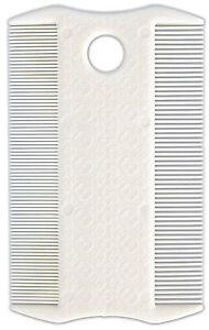 White Plastic Flea & Dust Comb Double Sided Dog Cat Flea & Lice Comb 9cm 4011905024028