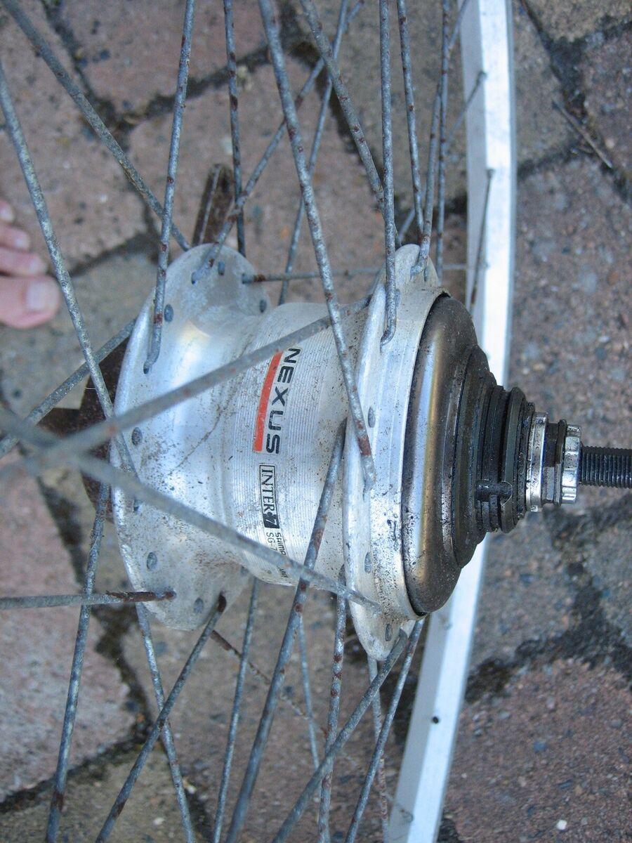 Hjul, 7 Gear, 28 tommer hjul med 7 indvendige Shimano Nex