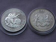 Somalia Elefante 100 Chelines 2010, 1 OZ plata, Motivo 2009, Edición 30.000 Ex