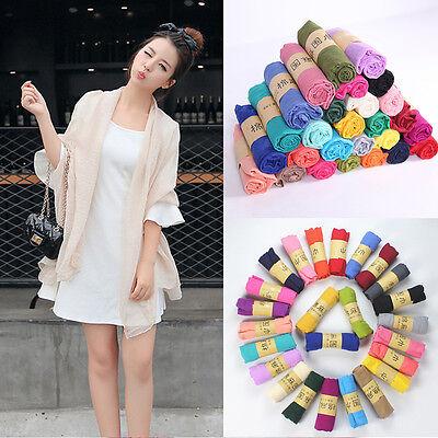 Charm Women Long Candy Colors Soft Cotton Scarf Wrap Shawl Scarves Fashion Stole