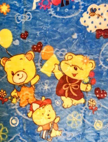 EF Babydecke Plüschdecke Kuscheldecke Kinderdecke Schmusedecke 90x100 Bären blau