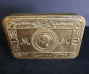 WW-One Princess Mary Brass Gift Tin for The Troops at The Front - Christmas 1914