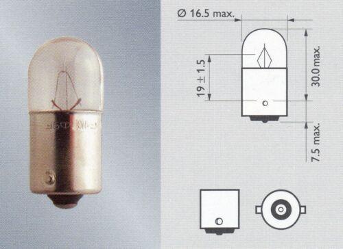 12V 5W BA15s Kugellampe Glühlampe R5W 50 Stück Großposten