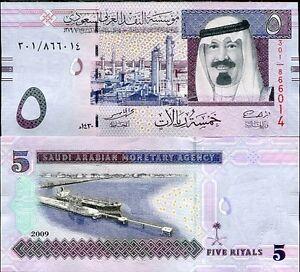 SAUDI-ARABIA-5-RIYALS-2009-P-32-UNC