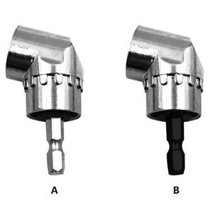 "105°Angle 1//4/"" 6mm Extension Hex Drill Bit Screwdriver Socket Holder Adaptor"