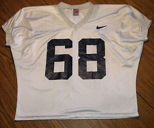 super popular bb7f4 09223 Details about Citadel Bulldogs Authentic Player-Issued Football Practice  Jersey #68-Nike, Sz L