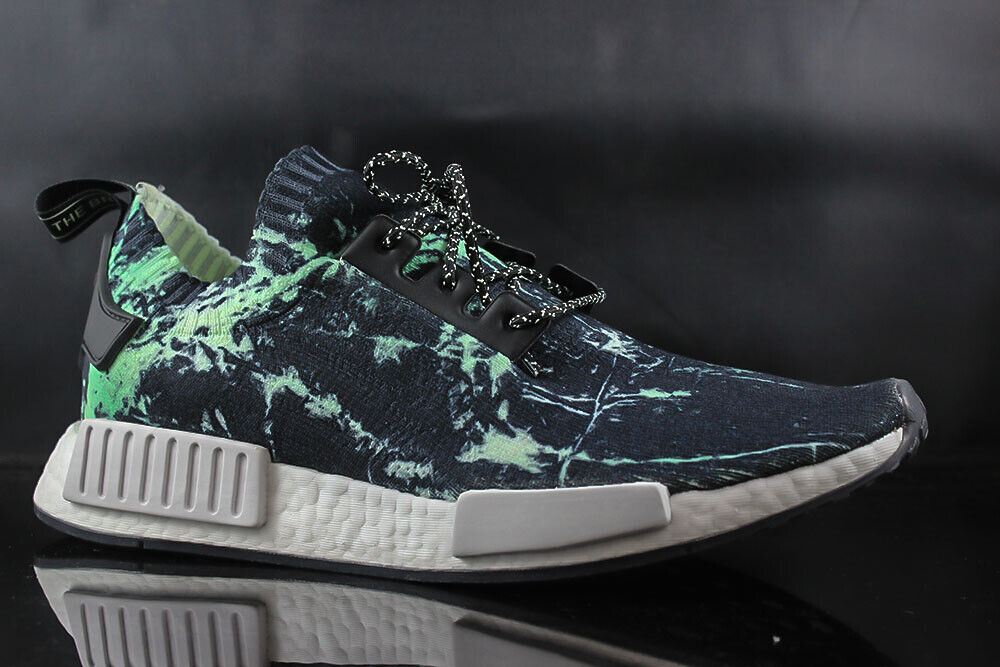 Homme chaussures De Course ADIDAS NMD R1 PK BB7996 vert noir blanc Taille  8.5
