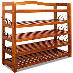 SCARPIERA in legno mensola scarpiera stile coloniale legno acacia ...