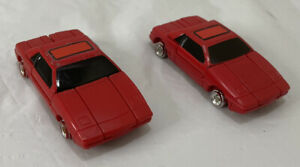 N Transformers 1984 Bandai GOBOTS Sparky Red Car MRT-43 Vintage Lot 2