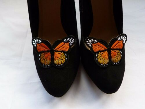 Butterfly Shoe Clips Various Colours Bright Pair Colourful Hand crafted