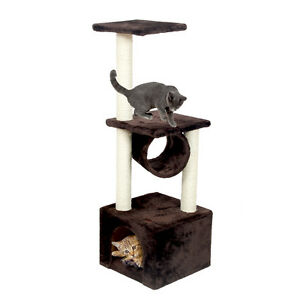 110CM-Pet-Cat-Tree-Climbing-Condo-Furniture-Scratching-Post-Kitten-Fun-Toy-Brown