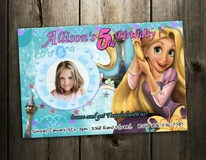 TANGLED Rapunzel BIRTHDAY PARTY INVITATION CARD CUSTOM INVITE
